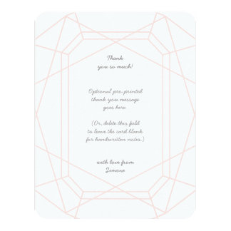 Stunning Gem Personalized Thank You Cards