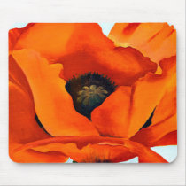 Stunning Georgia O'Keefe Red Poppy Flower Mouse Pad