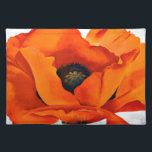 """Stunning Georgia O&#39;Keeffe Red Poppy Cloth Placemat<br><div class=""""desc"""">Stunning Red Poppy (1927) by abstract botanical and landscape artist Georgia O&#39;Keeffe. She lived and worked in New Mexico and New York. Enjoy.</div>"""