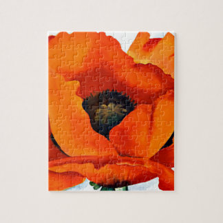 Stunning Georgia O'Keeffe Red Poppy Jigsaw Puzzle