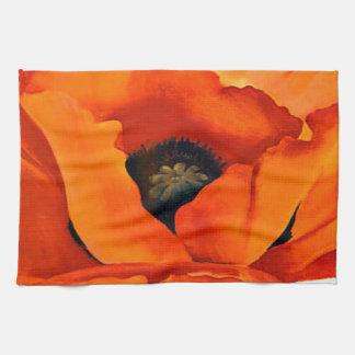 Stunning Georgia O'Keeffe Red Poppy Kitchen Towel