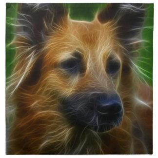 Stunning German Shepherd dog art, accessories gift Printed Napkins