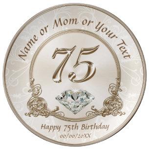 Stunning Gift Ideas For 75th Birthday Mom Dinner Plate
