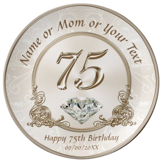 Stunning Gift Ideas For 75th Birthday Mom Dinner Plate