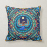 Stunning Goddess Isis cushion by Soozie Wray Throw Pillow