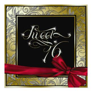 Stunning Gold Art Nouveau Sweet Sixteen Card
