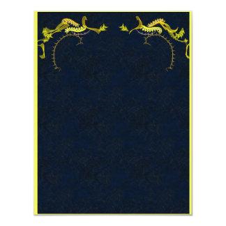 Stunning gold on ink blue invitation card