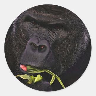 Stunning Gorilla Classic Round Sticker