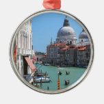 Stunning! Grand Canal Venice Round Metal Christmas Ornament