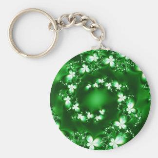 Stunning Green Stars Design Keychain