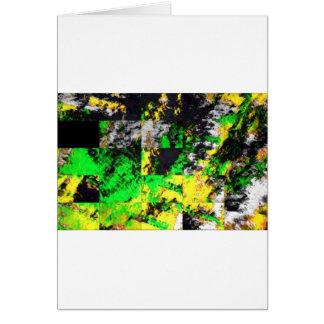 Stunning Green Yellow Abstract Fine Artwork Card