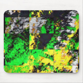 Stunning Green Yellow Abstract Fine Artwork Mouse Pad