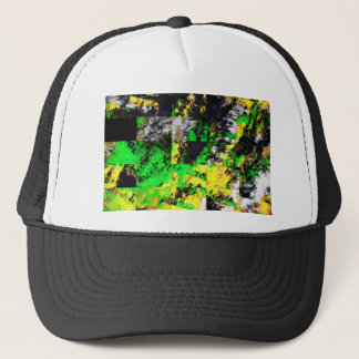 Stunning Green Yellow Abstract Fine Artwork Trucker Hat