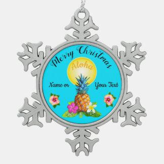 Hawaiian Pineapple Ornaments  Keepsake Ornaments  Zazzle