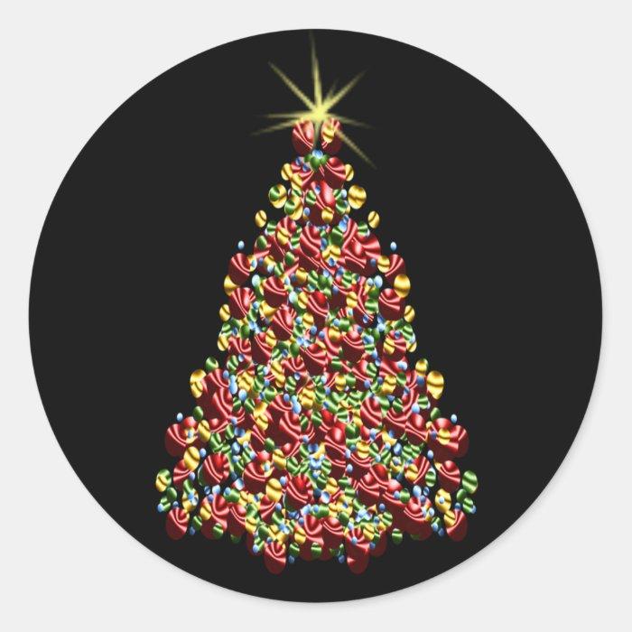 Stunning holiday tree xmas christmas envelope seal classic