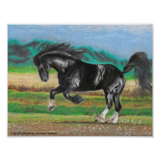 """Stunning Horse Art Color Poster 11"""" x 8.5"""""""