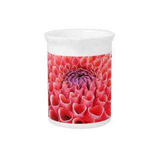 Stunning Hot Pink Dahlia Flower Drink Pitcher