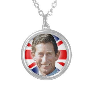 Stunning! HRH Prince Charles Round Pendant Necklace