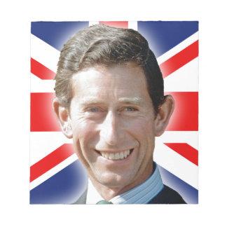 Stunning! HRH Prince Charles Note Pad
