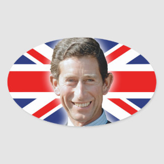 Stunning! HRH Prince Charles Oval Sticker