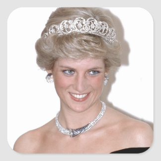 Stunning! HRH Princess Diana Square Sticker