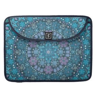 Stunning, Intricate Blue Boho Sleeve For MacBook Pro