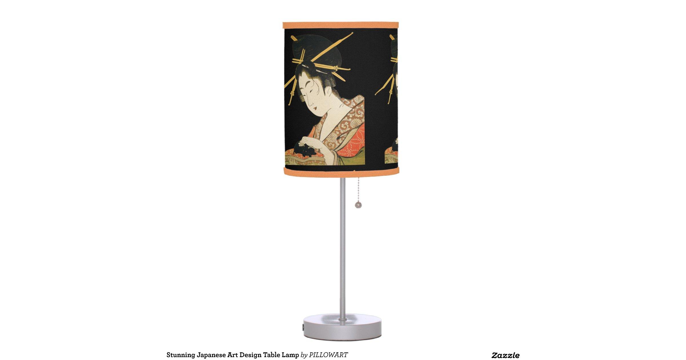 Stunning Japanese Art Design Table Lamp Zazzle