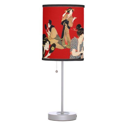 Stunning Japanese Gaisha Art Design Table Lamp Zazzle