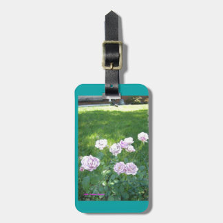 Stunning Lavendar Roses Bag Tag