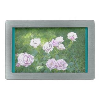 Stunning Lavendar Roses Belt Buckle