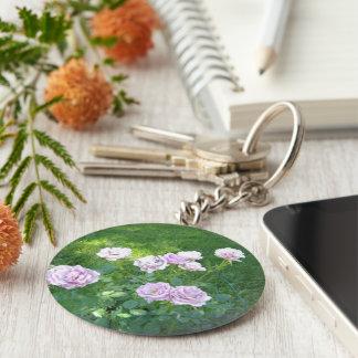 Stunning Lavendar Roses Keychain