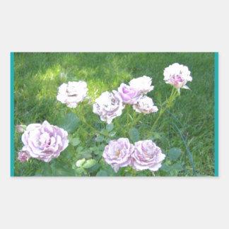 Stunning Lavendar Roses Rectangular Sticker