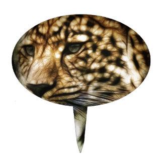 Stunning Leopard, 'made of light' art accessories Cake Picks