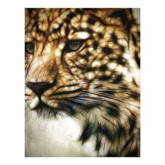 Stunning Leopard, 'made of light' art accessories Letterhead