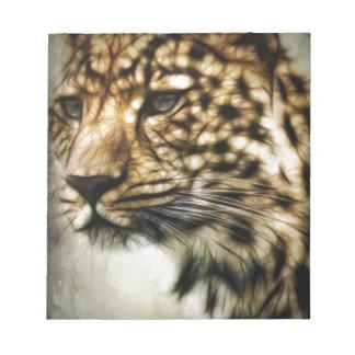 Stunning Leopard, 'made of light' art accessories Memo Notepads