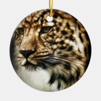 Stunning Leopard, 'made of light' art accessories Christmas Tree Ornaments