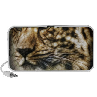 Stunning Leopard, 'made of light' art accessories Mini Speaker