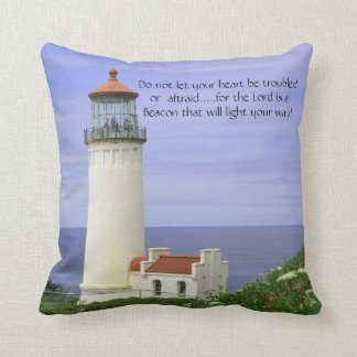 Stunning Lighthouse Pillow with Saying
