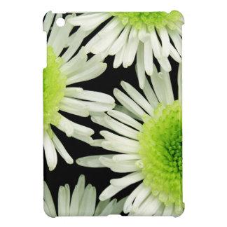 Stunning lime green dahlia print iPad mini covers