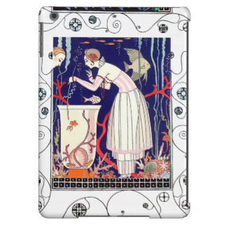 STUNNING LITTLE FISH ,ART DECO BEAUTY FASHION COVER FOR iPad AIR