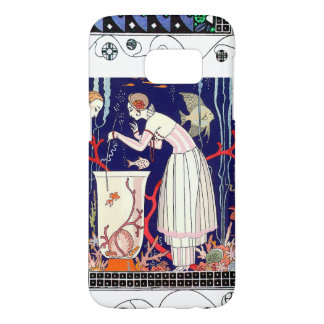 STUNNING LITTLE FISH ,ART DECO BEAUTY FASHION SAMSUNG GALAXY S7 CASE