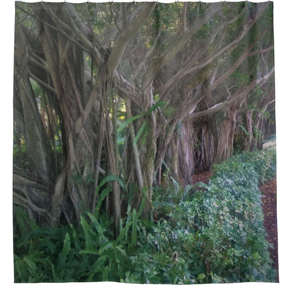 Magical Tree Path Shower Curtain