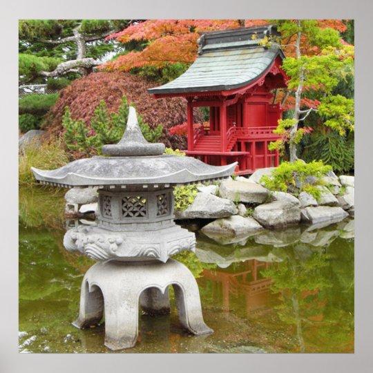 Stunning Meditation Garden Poster