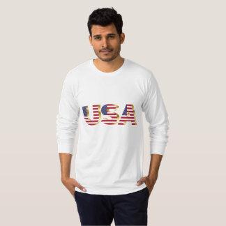 Stunning Men's T-Shirt In Patriotic Design