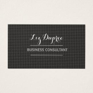 Stunning MINIMAL BLACK  Social Media CONSULTANT Business Card