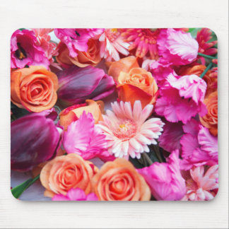 stunning mix OF of roses, daisies and tulips Mouse Pad