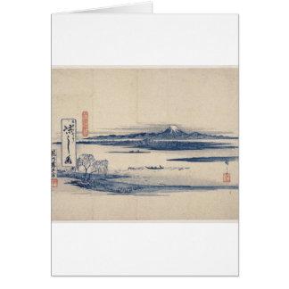 Stunning Mt. Fuji in Japan circa 1800s Card