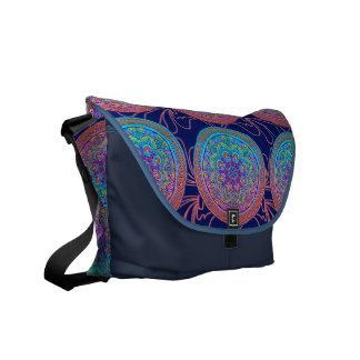 Stunning Multi Color Rickshaw Messenger Messenger Bag