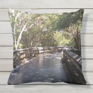Beach Themed Stunning Nature Path Print Outdoor Pillow