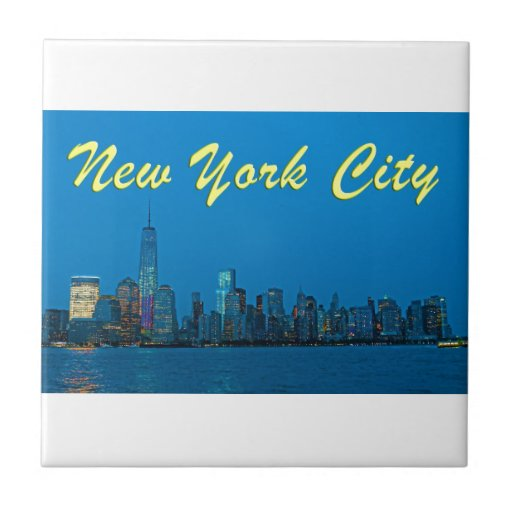 Stunning new New York Skyline Small Square Tile